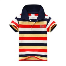 2017 New Kids Polo Shirts Baby Boys Kid Tops T-Shirt Summer Short Sleeve Striped Tops Designer Boys Clothes baby shirt boy