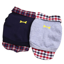 Spring/Summer Small Dog Coats and Jackets 2 Colors Soft Plaid Puppy Polo T-shirt Dogs Clothing Pet Clothes For Chihuahua Teddy(China)