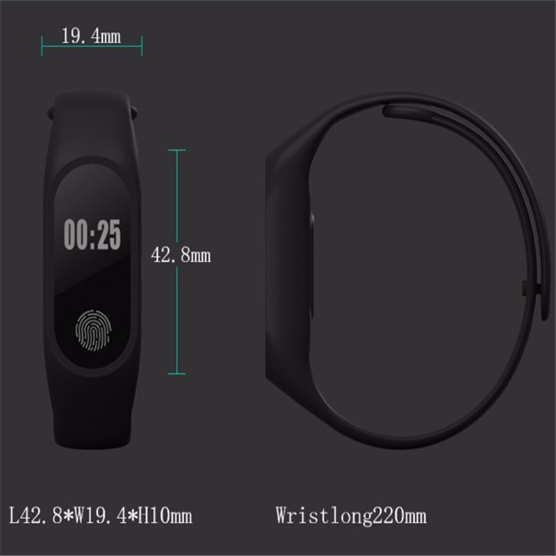 Hiwego-Smart-Wristband-M2-Smart-Bracelet-Heart-Rate-Monitor-Pedometer-Waterproof-Bluetooth-For-iOS-Android-For