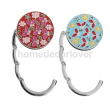 Round Flower Folding Bag Handbag Purse Table Hook Hanger Holder Gift