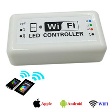 smd rgb led strip light wifi contrroller dc12v wifi remote controller for full color Wifi led controller music and timer mode