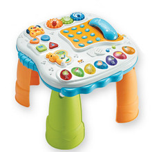 Musical & Learning Table Baby Activity Center Table Baby Learning Walker Sit To Stand Walker