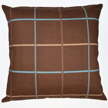 EA216 EA217 Plain Plaid Striped Brown Red blue yellow A grade 100% Cotton Canvas Cushion Cover Pillow Case (Custom Size )