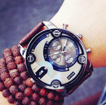 Fashion Brand Watches Men Women Casual Quartz Watch Leather Strap Military Sports Wrist Watch Wristwatch Large Dial<br>