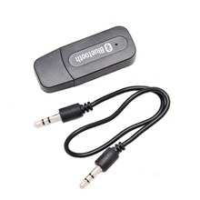 Portable Mini Stereo 3.5mm Interface AUX Dongle USB Wireless Bluetooth 2.1 Audio Music Receiver Adapter for Smart Phone Tablet