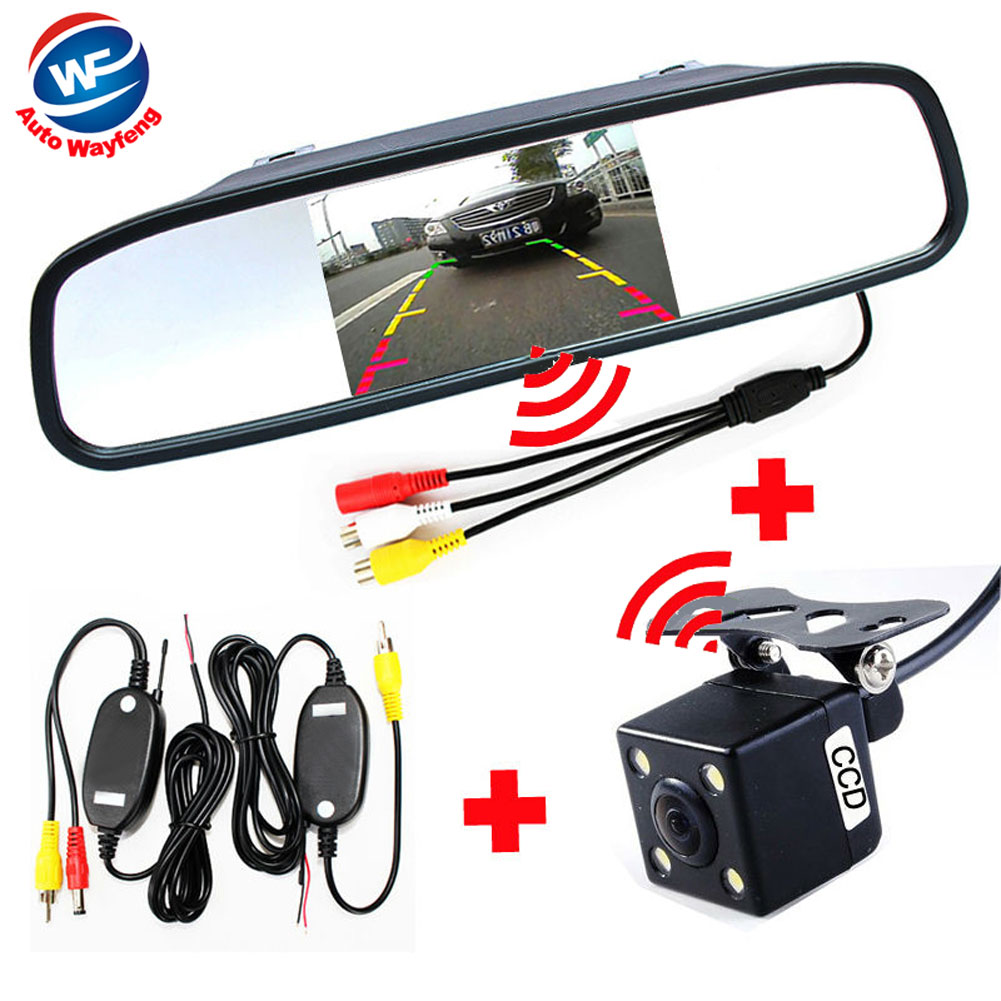 3 in 1 Wireless Car Rear View backup Camera Car Parking Assistance Video mirror Monitor System 2.4Ghz Wireless camera system(China (Mainland))