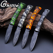 Ghillie G131-A Cool Folding Pocket Knife Camping Survival Knife, Mini Blade Fruit Knife, ABS Ghost Handle Beautiful Fift Knife(China)