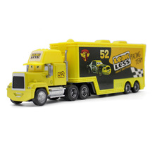 Pixar Cars Movie Mack Uncle No.52 Leak Less Racer's Truck Metal Diecast Car McQueen Truck Container 1:43 Alloy Model kid's toy(China)