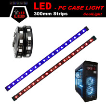 ALSEYE Computer Case LED Light SMD 5050 Magnetic 30cm Silicone Dual LED Strips DC 12v Backlight (1 pair) Color Blue, Red, Green