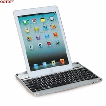 Ultrathin Aluminum Wireless Bluetooth Keyboard Case Cover For Apple for iPad Air 1 2