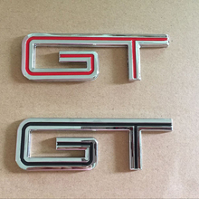 3D Metal GT Rear Trunk Emblem Badge Decal for Ford Mustang Shelby GT350 GT500 Styling Accessory