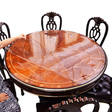 6sizes Soft Glass Transparency PVC Round Tablecloth Waterproof Party Home Kitchen Dining Room Placemat Pad Thickness 1.5mm