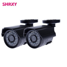 2 pieces High Quality CCTV Camera 700TVL IR Cut Filter Day/Night Vision Video Outdoor Waterproof IR Mini home Camera kit