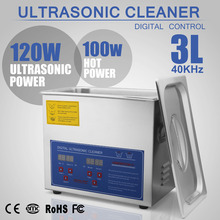 New Stainless Steel 3L Liter Industry Heated Ultrasonic Cleaner Heater Timer Modern Hot Multifunction 110v/220(China)