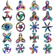 Buy Toys Hand Spinner Finger Gyro Triangle Colorful Clover Finger Gyro Zinc Alloy Finger Indication Pressure fidget spinner for $3.49 in AliExpress store