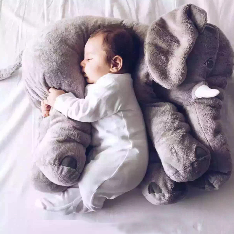 60cm Large Plush Elephant Toy Kids Sleeping Back Cushion Soft Elephant Doll Baby Doll Birthday Gift Holiday Gift Stuffed Doll<br><br>Aliexpress