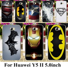 Case Cover for Huawei Y5 II Y6 ii MINI CUN-U29 Y5 2 Y5II Y5 2nd superman logo batman spiderman captain america Y6 ii Compact bag