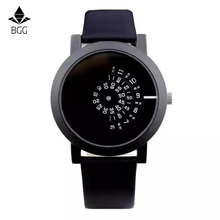 BGG 2017 creative design wristwatch camera concept brief simple special digital discs hands fashion quartz watches for men women
