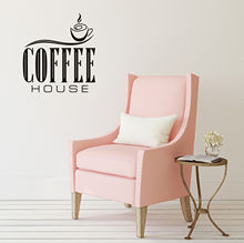 Coffee House Decorative Accessories Sticker On Wall DIY Removable Vinyl Art Word free shipping(China)