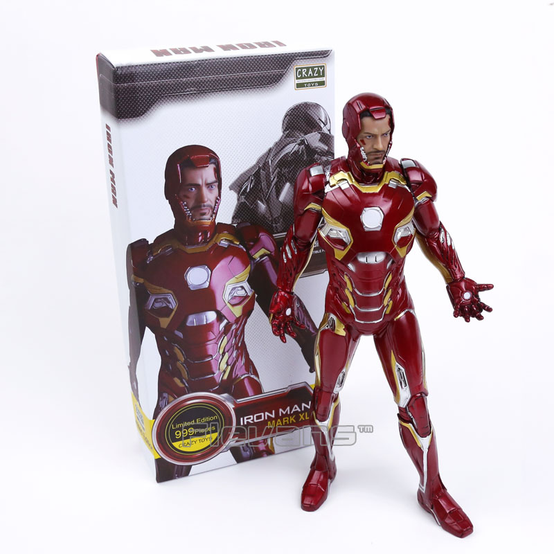Crazy Toys Iron Man MARK XLV Limited Edition PVC Figure Collectible Model Toy 12 30cm<br>