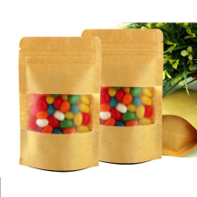 50pcs/lot 25cm*35cm+4cm*140micron Craft Paper Bag, Candy Packing Bag, Food Packaging Bags Paper