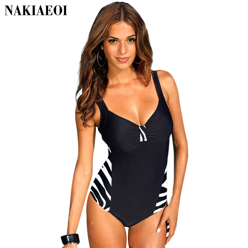 Plus Size Swimwear Female One Piece Swimsuit Women Vintage Bathing Suit 2017 One-Piece Suit Retro Large Size Swimsuits 5XL<br><br>Aliexpress