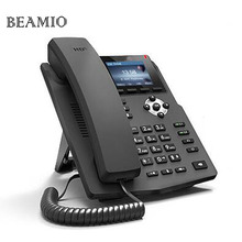 Russian English Language HD Voice 2 SIP lines IP Phone VoIP Telephone With Intercom Color Screen RJ09 Headset interface Black(China)