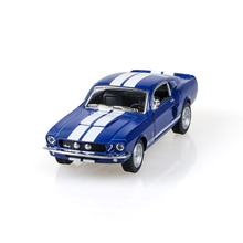 Kinsmart Mustang Shelby GT500 1967 Blue 1/38 alloy model car Diecast Metal Pull Back Car Toy For Gift Collection