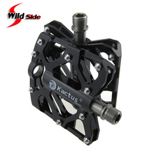 Kactus Bike Bicycle Pedals 223g Mountain Road BMX Magnesium Alloy Titanium Axle Cycling Flat Pedal Refacciones de Bicicleta