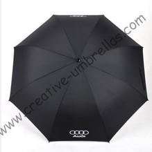 Free shipping,130cm diameter AUDI car umbrella,auto open.14mm fiberglass shaft and 5.0 fiberglass ribs,golf umbrella,windproof