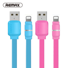 REMAX Breathing USB 8pin Data Cable lighting Smart LED USB cable for iOS 2.1A fast Charging TPE transfer charger for iPhone 7/6(China)