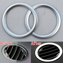 ABS Chrome Car-styling detector Instrument Panel Air Vent Outlet ring decoration Cover Trim mercedes GLK X204 ML decals - Auto accessories Mall Co.,Ltd store
