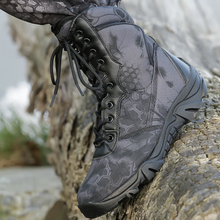 Men waterproof hiking shoes Military combat boots Tactical Sport Training sneakers Hunting Wear-resistant winter sneaker Fishing