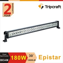 Factory Price 1pc 30'' 180W Epistar LED Light Bar Off-Road 4WD Truck SUV ATV 4x4 12v Spot Flood Super Combo Bright High Quality