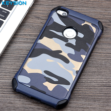 KEYISON Case for Huawei P8 Lite 2017 Army Camo Camouflage Pattern PC+TPU 2 in1 Anti-knock Protective Back Cover for Honor 8 Lite