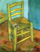 Famous Oil painting Van Goghs Chair Vincent Van Gogh reproductions Canvas Art High quality Hand painted(China)