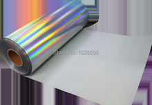 speacial color CDH-19 spectrum hologram Hot sell hologram heat transfer vinyl/clothing transfer film for clothes