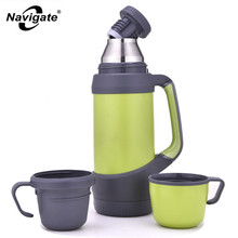 Stainless Steel Vacuum Flask Thermos Sports Water Barrel Bicycle Bottle Kettles Drinkware Thermal Cup Thermoses Cute Travel Mugs(China)
