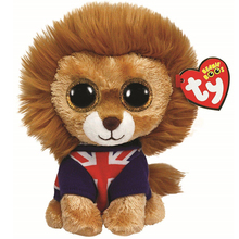 "Pyoopeo Ty Beanie Boos 6"" 15cm Hero Lion Plush Regular Stuffed Animal Collectible Soft Big Eyes Doll Toy(China)"