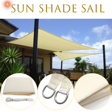 3.5x3.5m Square Sun Shade Sail Canopy Patio Garden Awning UV Block Top  Shelter Beige Outdoor Waterproof Car Cover Garden