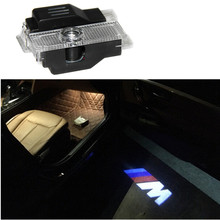 2x LED Door Warning Light for bmw M performance logo projector For BMW E60 E90 F10 F15 F16 F30 M3 M5 F01 F02 GT