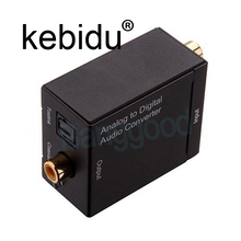 Kebidu Analog Audio to Digital Optical Coax Toslink Voice Adapter Sound Converter SPDIF Adaptor for TV for Xbox 360 DVD