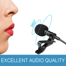 Collar Microphones Phone Mini Microphone 3.5mm Jack Handsfree Lapel Wired Condenser Karaoke OK Mic for Smartphone Mic