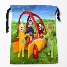 Best Teletubbies Drawstring Bags Custom Storage Printed Receive Bag Compression Type Bags Size 18X22cm Storage Bags(China)