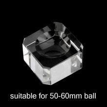 1Pcs Square Glass Crystal Dimple Ball Base Quartz Sphere Table Holder Stand Home Wedding Party Decoration Ornaments Paperweight
