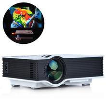 Origina resolution enhanced LED household mini throwing projection 4:3/16:9 support AV in VGA  HDMI USB Memory SD card