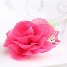 New Beauty Chiffon Flower Hairpins Children Hair Accessories Gilrs Hair Barrettes Children Accessories Baby Hair Clip