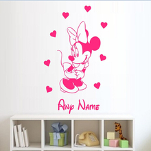 customized baby girl name nursery Minnie Mouse Wall Sticker,kid's bedroom gift