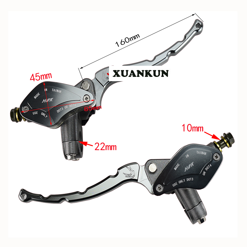 XUANKUN  Off - Road Motorcycle Electric Car ATV Modified Front And Rear Disc Brake CNC Handle Brake Hand Brake On The Pump<br>