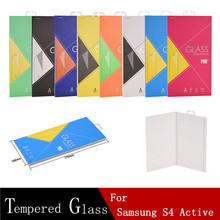DHL Mix Order 100PCS Tempered Glass For Samsung Galaxy S4 Active Phone LCD Protector Film Explosion-proof Screen Protector(China)